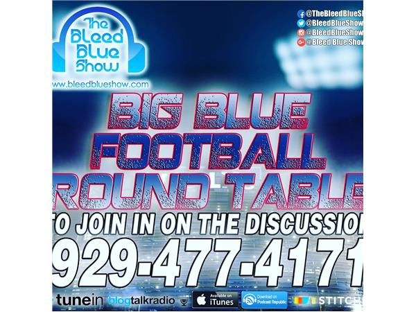 Big Blue Round Table – Throw Back