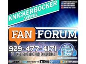Knickerbocker Ave Fan Forum – Post Game vs Sixers